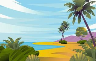 Summer Beach Vacation Scenery vector