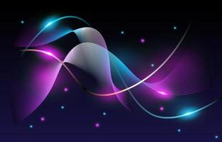 Blue And Pink Neon Abstract Line vector