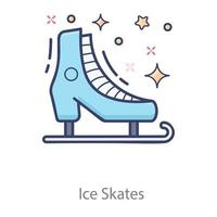 Ice Skates shoes vector