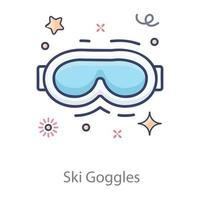 Ski Goggles Eyewear vector