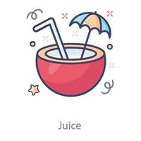 Coconut Refreshing  Juice vector