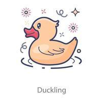 Duckling Kids Rubber vector