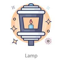Lamp luminous light vector