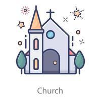 Church Christianity house vector