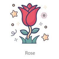 flor de fragancia de rosa vector