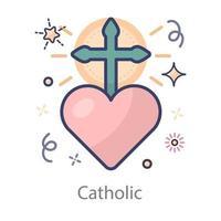catolicismo romano católico vector