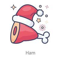 Ham Baked chicken vector