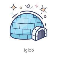 Igloo in Modern vector