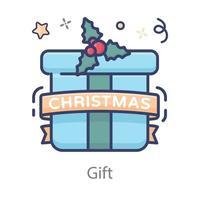 regalo envuelto navidad vector