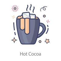 diseño de chocolate caliente vector