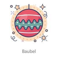 Bauble Christmas Design vector