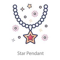 Star Pendant For Ladies vector
