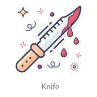 sangre de espada y cuchillo goteando vector