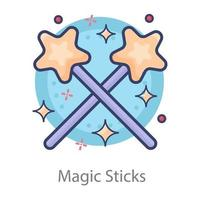 Magic Sticks and Experiments vector