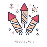 Firecrackers  Event celebration vector