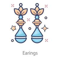 Earrings  in Modern vector