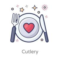 Cutlery Fork and Knife vector