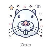 Otter Carnivorous Mammal vector
