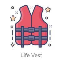 chaleco salvavidas flotante vector