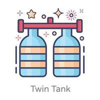Twin Tank Vessel vector