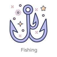 anzuelo para pescar vector