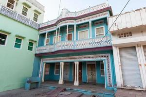 Colorful House in Khandela, Rajasthan, India photo