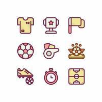 conjunto de iconos de fútbol soccer vector