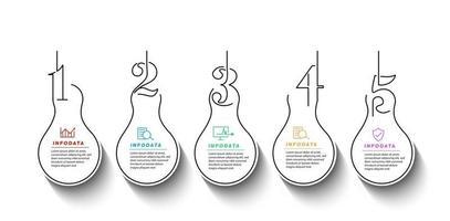 Design elements of business infographics. Modern infochart, marketing chart vector