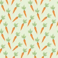 vector patrón sin costuras con zanahorias se puede utilizar como diseño para empacar papel tapiz, vajilla, cuadernos y otras cosas