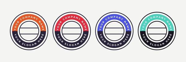 Badge certificates logo company to determine based on criteria Vector illustration certified logo design