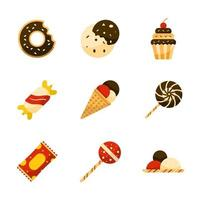 Icon Pack Summer Sweet vector