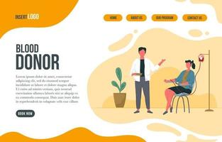 Blood Donor Landing Page vector