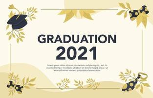 Gold Graduation Background vector
