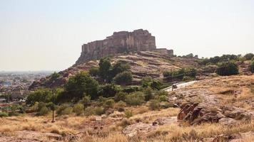 View of Jodhpur Fort from Jaswant Tanda Mausoleum, Jodhpur, Rajasthan, India photo