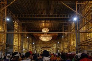 Sri Bangla Sahib Gurudwara Sikh Temple interior in New Delhi, India photo