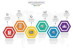 El concepto de negocio de infografías se puede utilizar para presentaciones de diagramas de flujo de gráficos de información vector