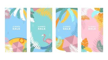 Summer banner templates with Colorful background vector