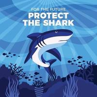 Sharks in the Beautiful Blue Ocean vector