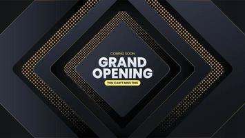 Grand Opening Dark Luxury Got Dot Geometric Background vector