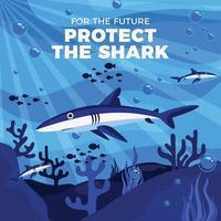 harks Swim in the Deep Ocean vector