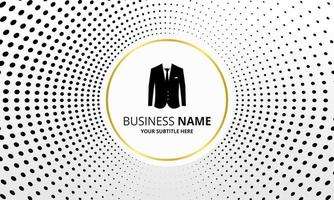 Modern Black Dotted Business Background vector