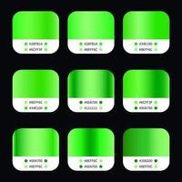 Green Gradients Swatches Set vector
