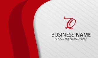 Stylish White Red Curved Business Background vector