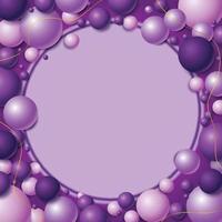 belleza de color lavanda con decoración redonda vector