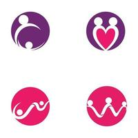 adoption and community people logo vector