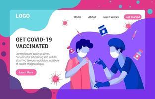 Covid 19 Vaccination Landing Page vector