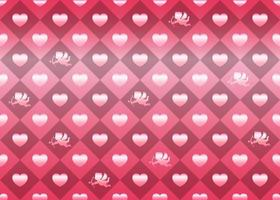 Valentines Day Horizontally And Vertically Repeatable Seamless Vector Background Illustration With Pink Heart Shapes And Cupids