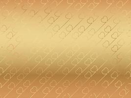 Valentines Day Abstract Vector Background Illustration With A Shiny Gold Heart Pattern On A Gold Background