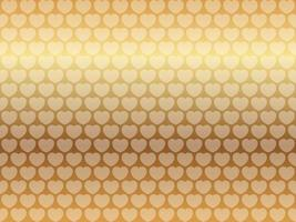 Valentines Day Seamless Vector Background Illustration With Gold Heart Pattern On A Gold Background