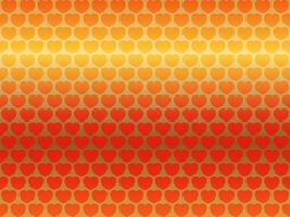 Valentines Day Seamless Vector Background Illustration With Red Heart Pattern On A Reflective Gold Background